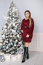 """Короткое трикотажное платье-свитер """"ТРАВКА"""" с люрексом (большие размеры), фото 3"""