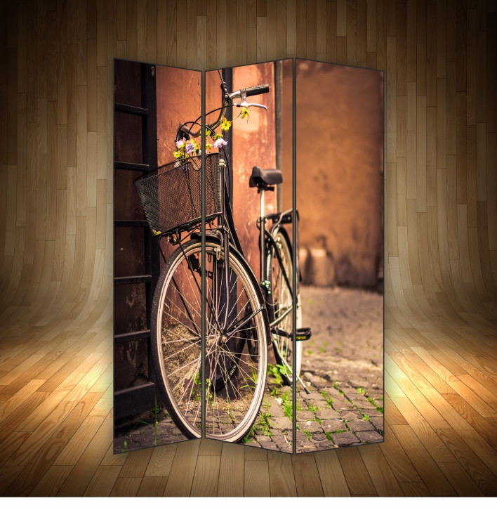 """Ширма декоративна """" Велосипед у провулку"""""""
