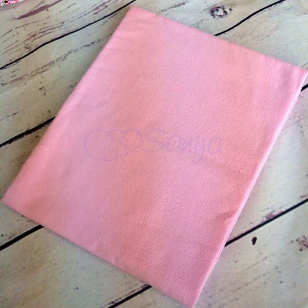 Пеленка фланелевая розовая