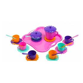 Набор игрушечной посуды Ромашка с подносом 26 элементов (hub_fCtH20327)