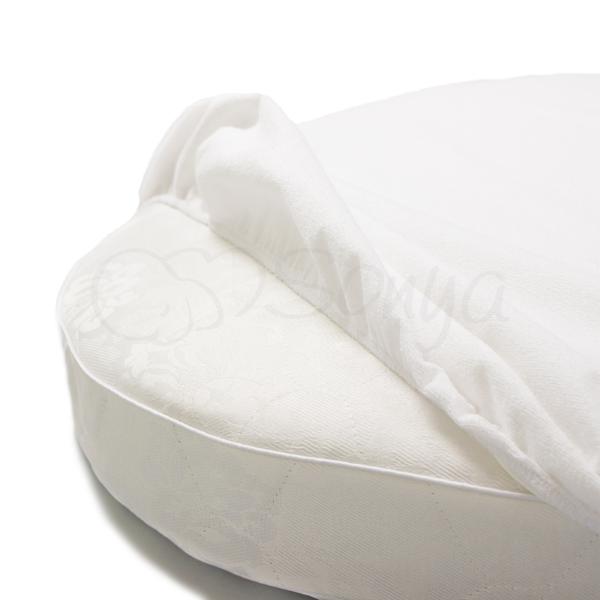 Наматрасник непромокаемый в круглую кроватку 70х70