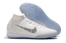 Футзалки Nike Mercurial c носком 1111 Білий, фото 3