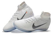 Футзалки Nike Mercurial c носком 1111 Білий, фото 2