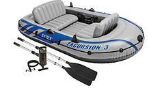 Intex надувний човен Excursion 3 Set