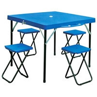 Пластиковый стол для пикника +4 стула