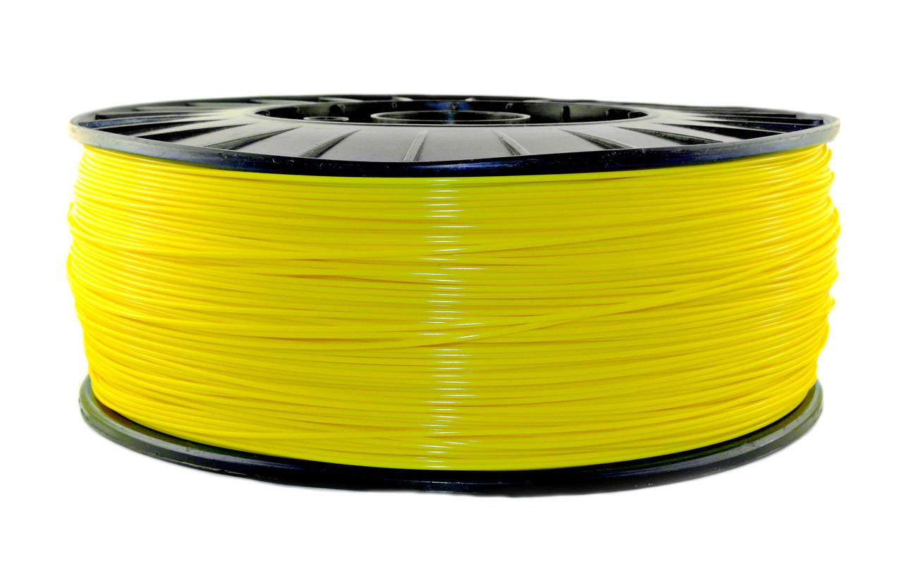 Нитка PLA (ПЛА) пластик для 3D друку, Жовтий (1.75 мм/3 кг)
