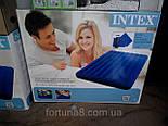 Надувной матрас Intex с насосом и подушками 152х203см, фото 2
