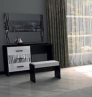 """Туалетний столик """"Терра""""  від Миро-Марк (глянець білий ,чорний мат)., фото 1"""