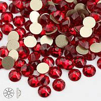 Стразы стекло! ss6  цвет -красный, 100шт