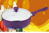 Кованная кованная литая сковорода Forget dia-casting fry pan, фото 3