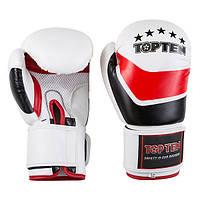 Боксерские перчатки TopTen, DX-31, 12oz, бело-красный