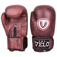 Боксерские перчатки Velo antique, кожа, 12oz