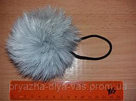 Меховой помпон из кролика ( 8см) Св.серый