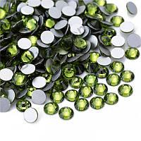 Стразы стекло! ss6  цвет -оливковый , 100шт