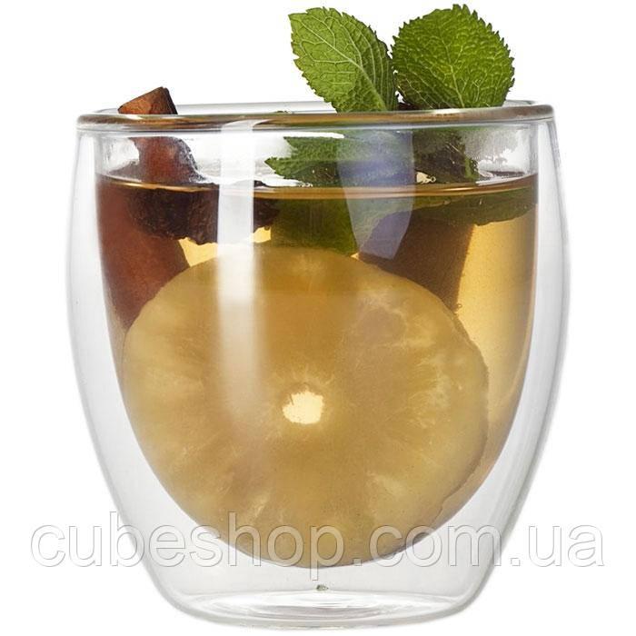 Стеклянный стакан с двойными стенками 250 мл