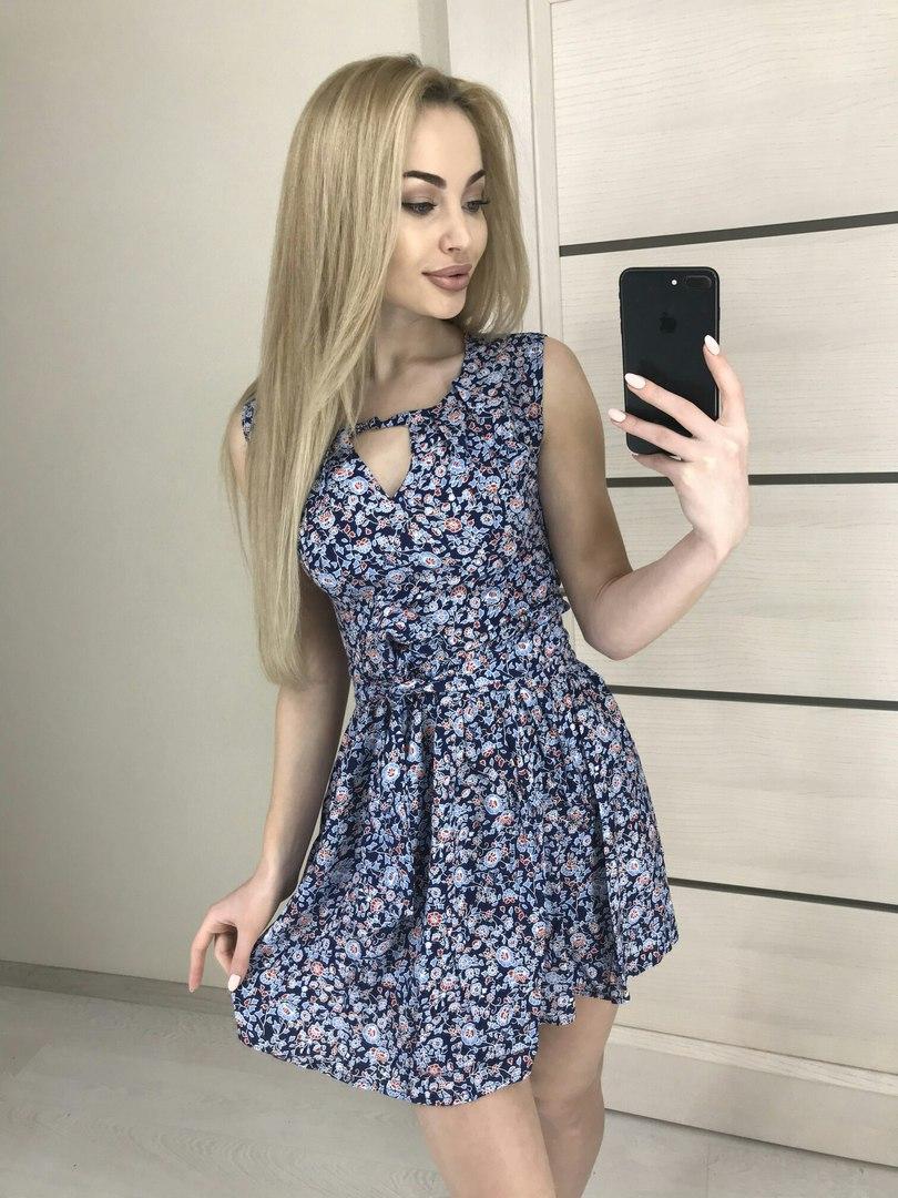 ffa5d96def4 Приталенное летнее мини-платье