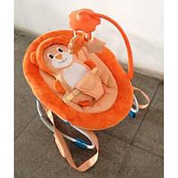 Детский шезлонг-качалка Baby Tilly BT-BB-0002 оранжевый