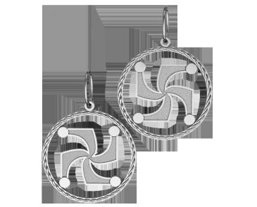 Подвеска - кулон серебряная СИМВОЛ РОДА 60088