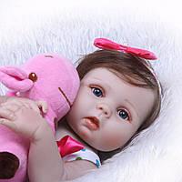 Кукла реборн София 53 см полностью виниловая Reborn doll