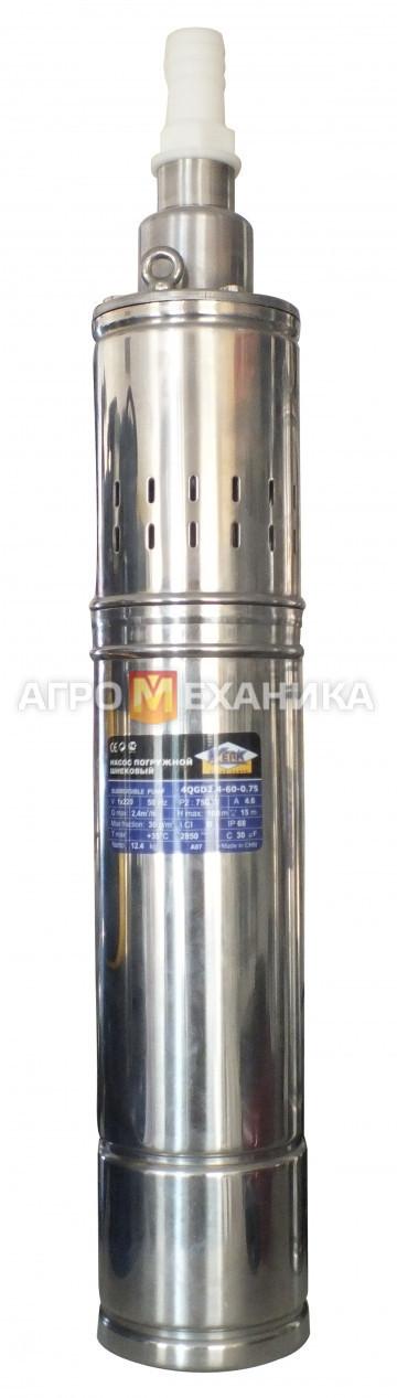 Занурювальний насос 4QGD2.4-60-0.75 пот 750Вт, макс підйом води 100м., макс. продукт. 2.4м3/год вага 11,3 кг