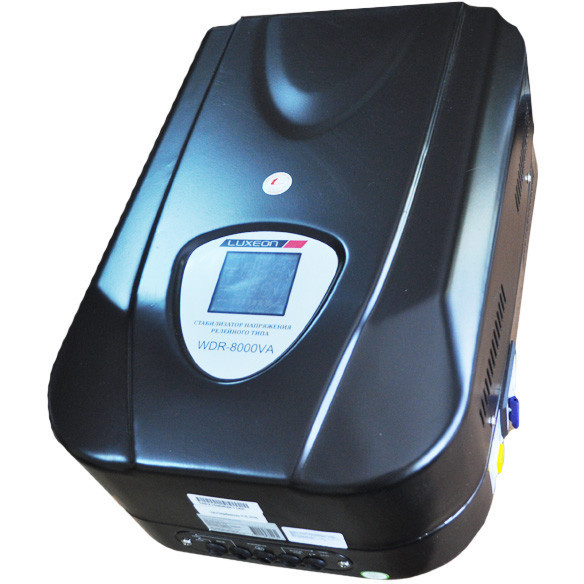 Стабілізатор напруги FORTE ACDR-2kVA, релейного типу, потужність 2000 ВА, вхідна напруга 140-260В ,вага 8.5 кг