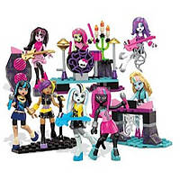 Мега блокс Рок группа  Mega Bloks Monster High Glam Ghoul Band Building Kit