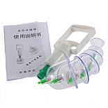 Вакуумные (массажные) банки для домашней терапии - pull out a vacuum apparatus KL 12 шт., фото 4