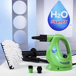Пароочиститель портативный тройного действия H2O Steam FX-Green