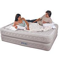 Надувная велюровая кровать Intex 66964 со встроенным насосом