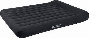 Полуторный матрас велюровый Intex 66780 со встроенным насосом