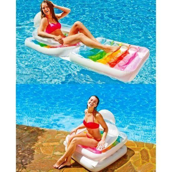 Надувной пляжный матрас-кресло Intex 58847