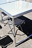 Алюминиевый столик +4 стула , фото 5
