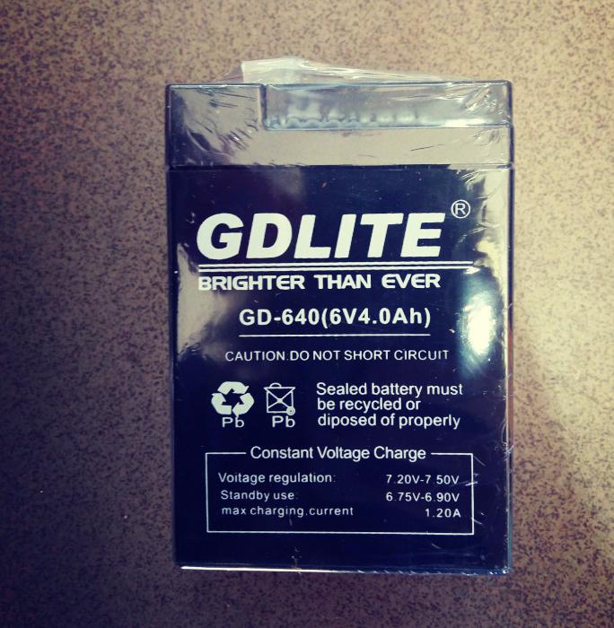 Акумулятор GDLITE 6V 4.0 Ah GD-640