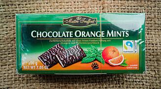 Maitre Truffout Chocolate Orange Mints - Шоколадные пластины с апельсиновой и мятной начинкой