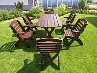 Садові меблі стіл і крісла 6 штук з масиву сосни, Відео ютуб