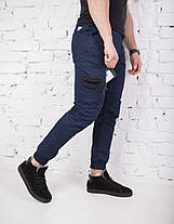 "Брюки на флисе мужские Pobedov trousers ""Papin Brodyaga"" zimniye Navy, фото 2"