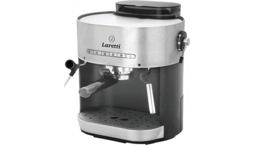 Кофемашина Laretti LR7902, 1250 Вт, давление 15 бар,капучинатор