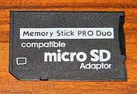 Переходник с карт памяти MicroSD на Pro Duo
