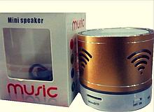 Портативна акустична система золота Mini Speaker MUSIC