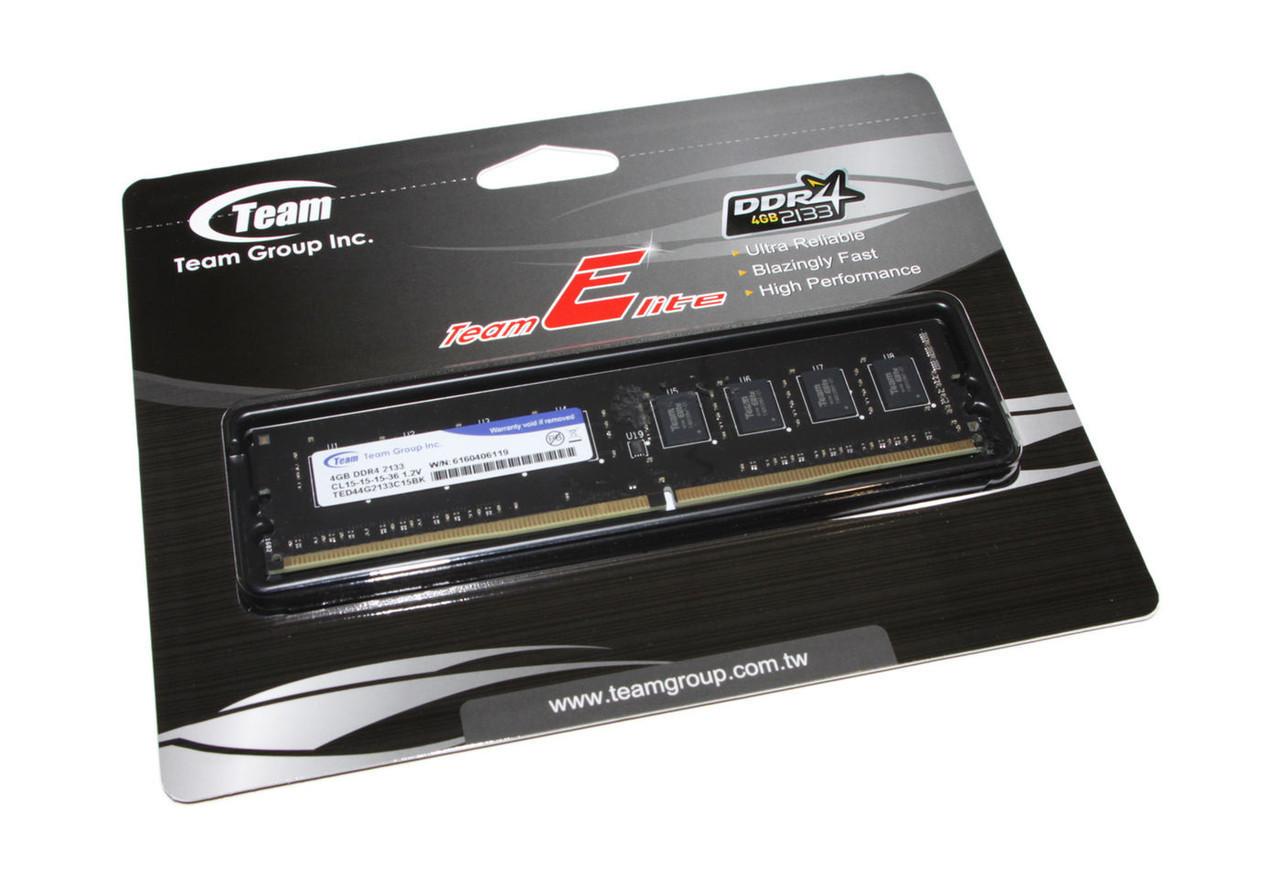 Оперативная память для компьютера 4Gb DDR4, 2133 MHz, Team Elite, 15-15-15, 1.2V (TED44G2133C1501)
