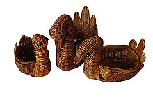 """Декор - набор корзинок """"Утонченные утки"""", 3 шт"""
