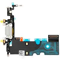 Шлейф (Flat, Flex cable) Apple iPhone 8 с гнездом зарядки и компонентами White