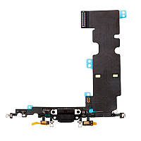 Шлейф (Flat, Flex cable) Apple iPhone 8 Plus с гнездом зарядки и компонентами Black