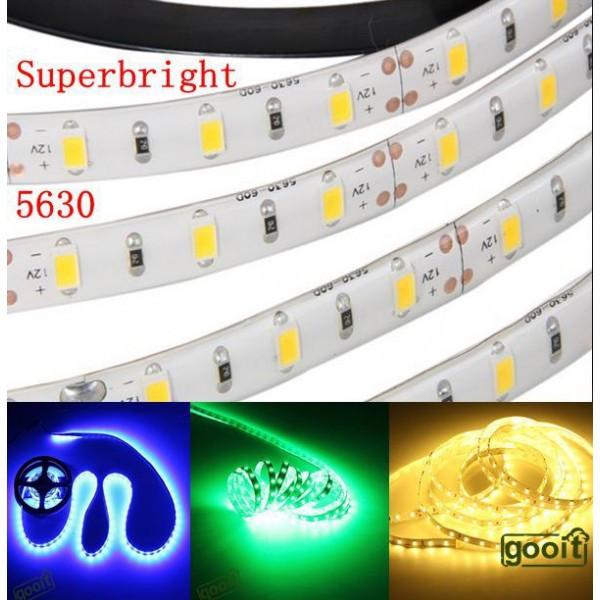 Светодиодная лента 5630 60 шт./метр белая (в силиконе) (цена за 5 метров)