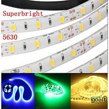 Світлодіодна стрічка 5630 60 шт./метр біла (силікон) (ціна за 5 метрів)