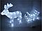 Новогодняя акриловая статуя оленень с санками, Светящиеся новогодние олени 70 LED, фото 4