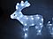 Новогодняя акриловая статуя оленень с санками, Светящиеся новогодние олени 70 LED, фото 5
