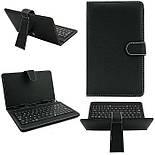 Чехол с клавиатурой для планшета 8 дюймов Black (micro Usb), фото 2