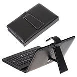 Чехол с клавиатурой для планшета 8 дюймов Black (micro Usb), фото 3