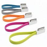 1117 USB кабель для iPHONE 4 магнит 20 см, фото 3